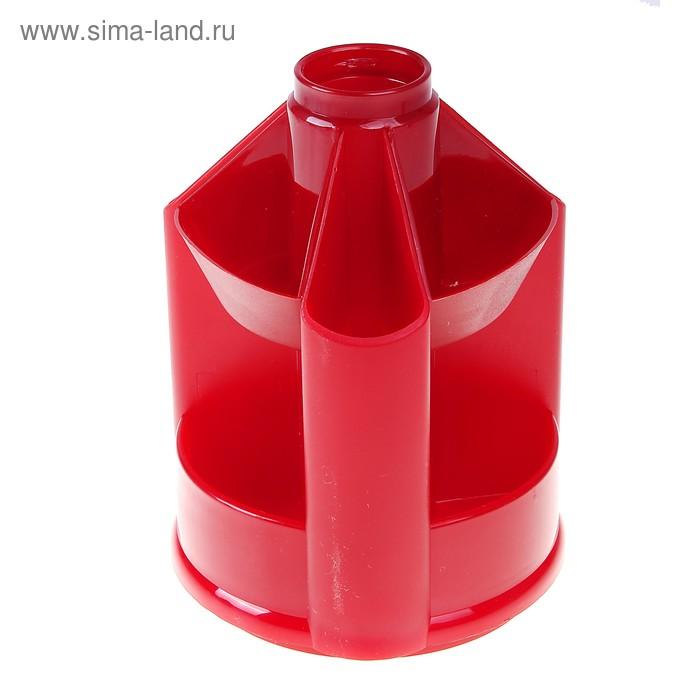 Настольная подставка-органайзер Mini Desk вращающийся, без наполнения, тонированный темно-красный Вишня