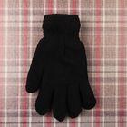 Перчатки мужские двойные, цвет чёрный