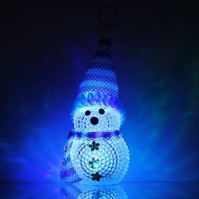"Игрушка световая ""Снеговик"" (батарейки в комплекте) 5х13 см, 1 LED, СИНИЙ"