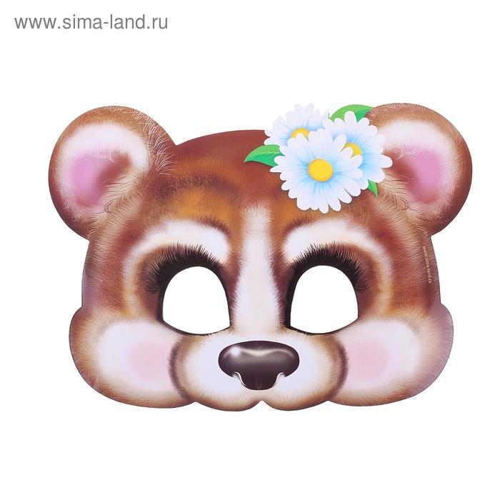 """Маска карнавальная """"Мишка-девочка"""""""