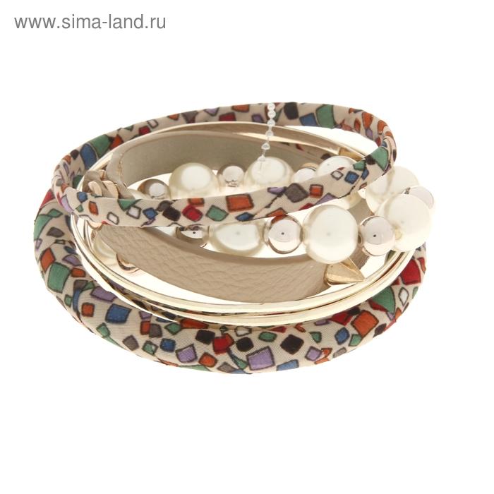 """Браслет-кольца 6 колец """"Нежность с шипами"""", цветной"""
