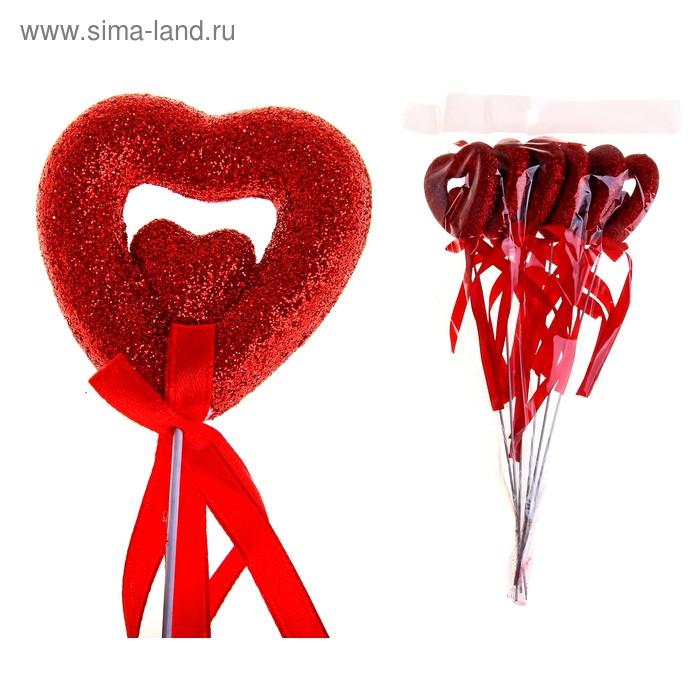 """Сердце на палочке """"Двойные чувства"""" (набор 6 шт)"""