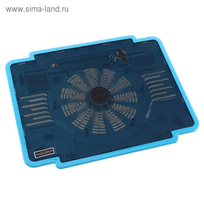 Охлаждающая подставка для ноутбука, 1 кулер, USB, голубая