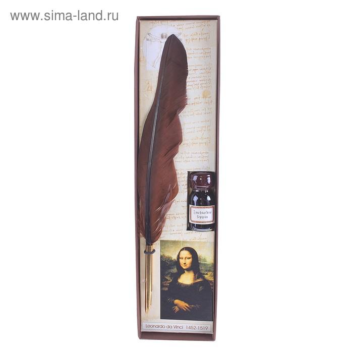 """Письменный набор """"Мона Лиза"""" (перо гусиное, чернила)"""
