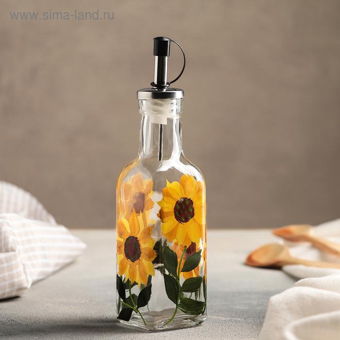 """Бутыль для соусов и масла 20х5 см """"Подсолнух"""", объем 170 мл"""