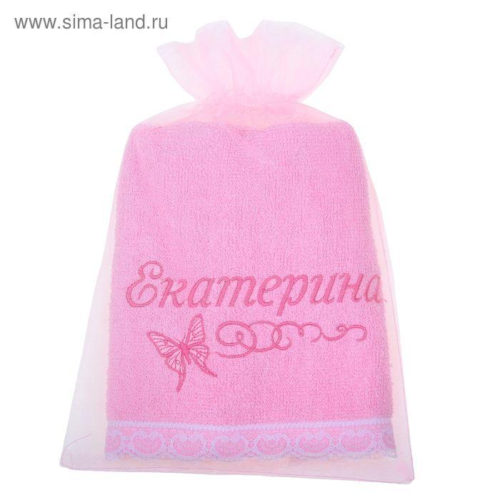 Полотенце с вышивкой 100% хлопок Екатерина 32*70 см 370гр/м2