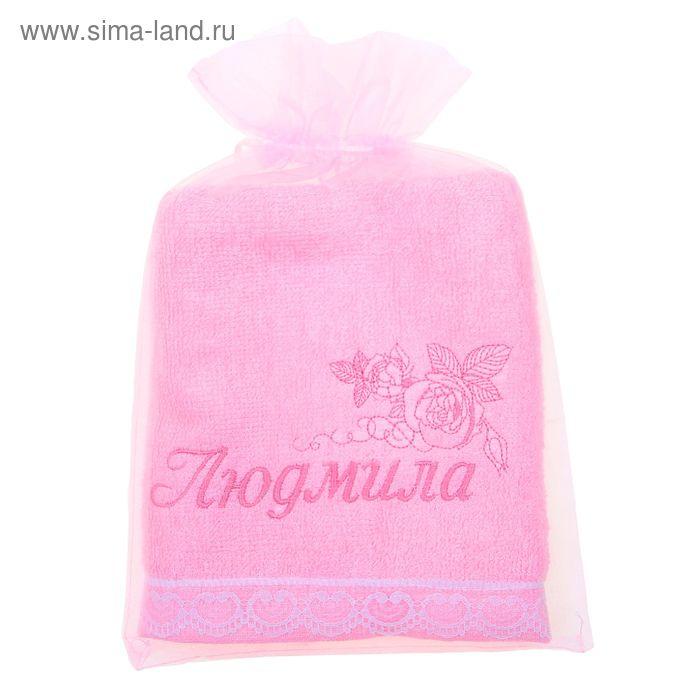 Полотенце с вышивкой 100% хлопок Людмила 32*70 см 370гр/м2