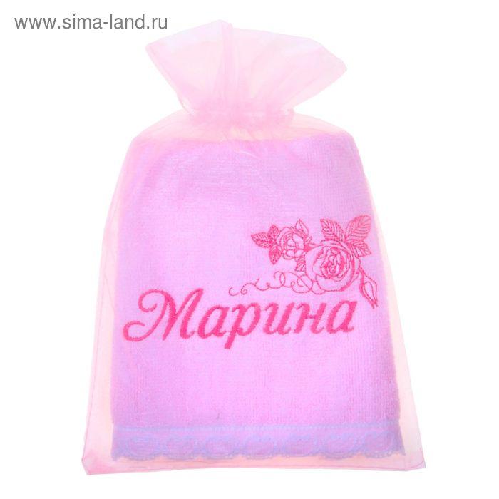 Полотенце с вышивкой 100% хлопок Марина 32*70 см 370гр/м2