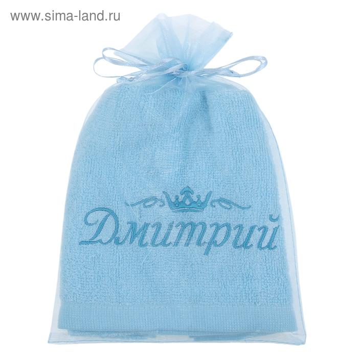 Полотенце с вышивкой 100% хлопок Дмитрий 32*70 см 370гр/м2