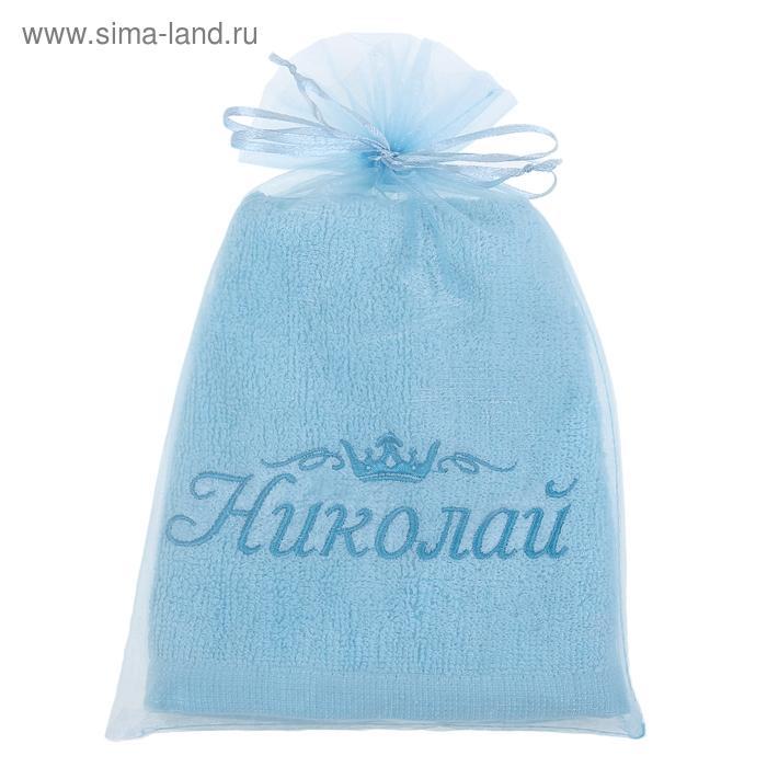 Полотенце с вышивкой 100% хлопок Николай 32*70 см 370гр/м2