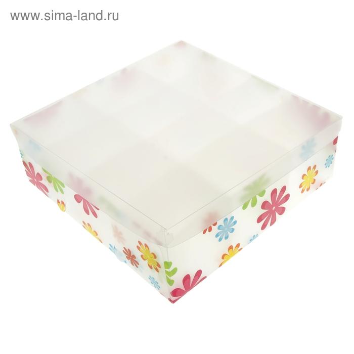 """Короб для хранения """"Цветы"""" 12 ячеек"""