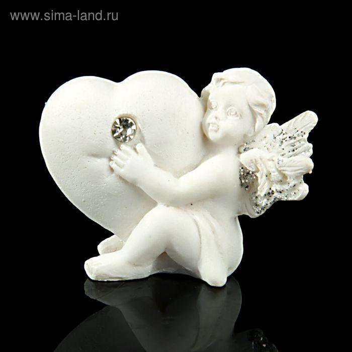 """Сувенир """"Белоснежный ангел, обнимающий сердце"""", МИКС"""