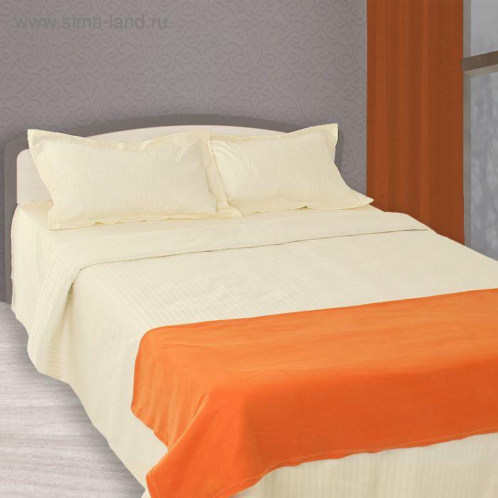 "Плед ""Collorista"" оранжевый 150*200 см, 100% п/э, флис, 130 гр/м2"