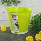 """Горшок для цветов 700 мл """"Крит"""", d=12 см, система прикорневого полива, цвет салатовый"""