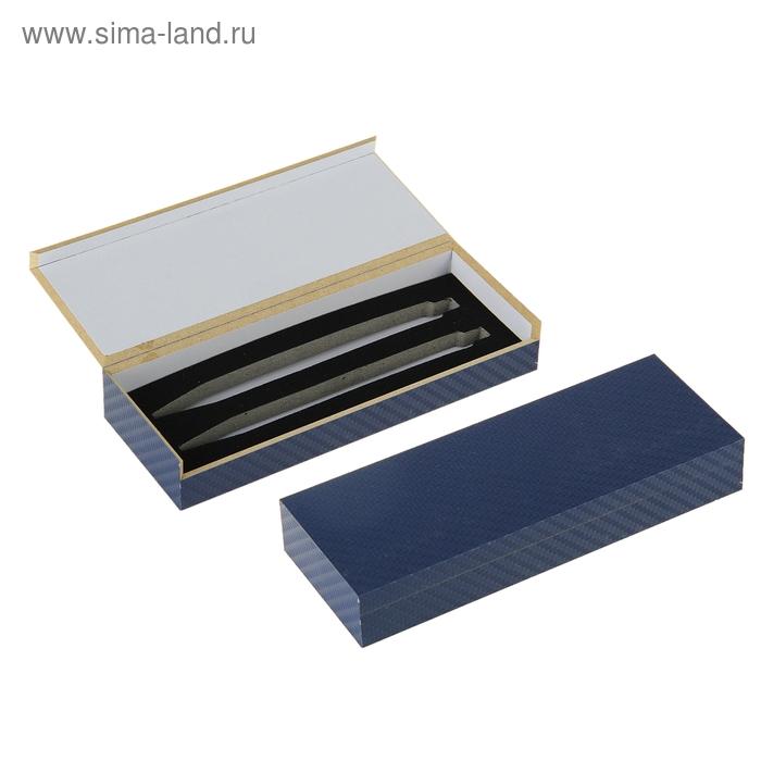 Футляр для двух ручек деревянный синий