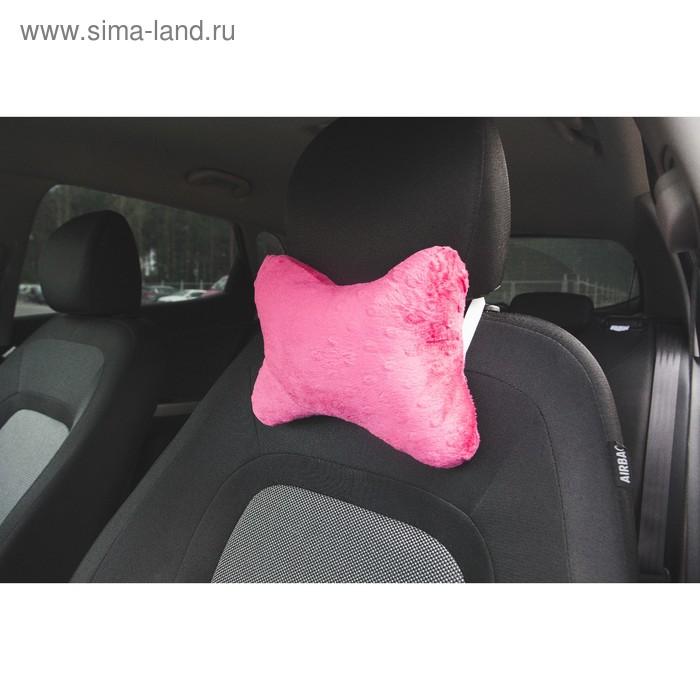 Ортопедическая подушка наподголовник кресла Классика, розовая
