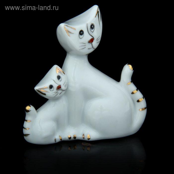 "Сувенир ""Кошечка с котёнком милые"""