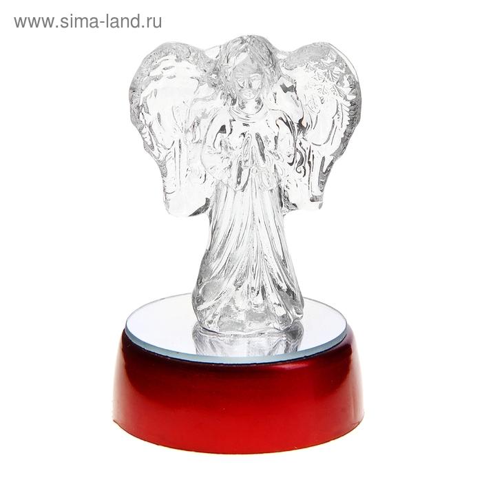 """Сувенир """"Ангел"""" на зеркальной подставке световой"""