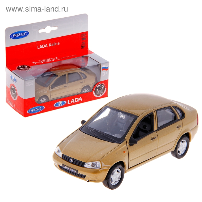 """Модель машины """"LADA Kalina"""", масштаб 1:34-39, цвета МИКС"""