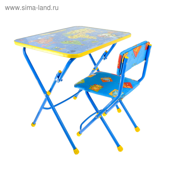 """Набор детской мебели """"Никки. Познаем мир"""" складной, цвета стула МИКС"""