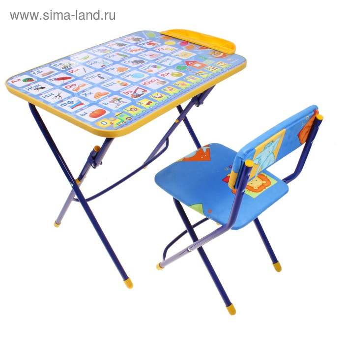 """Набор детской мебели """"Никки. Азбука 2"""" складной, цвета стула МИКС"""