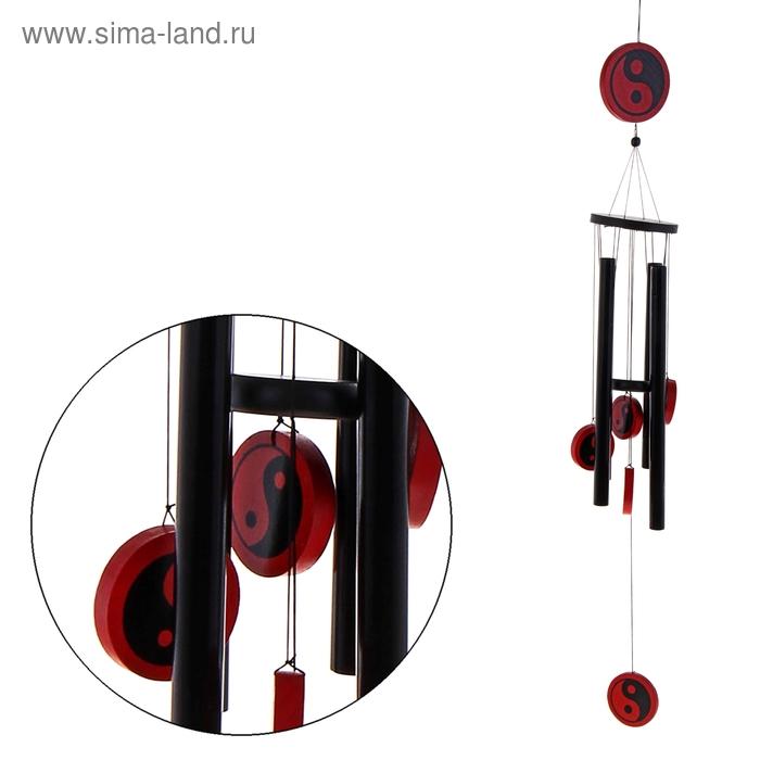 "Музыка ветра ""Инь и Ян"" 4 трубочки, 5 фигурок"