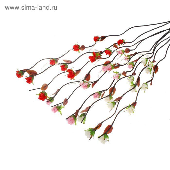 """Декоративная ветка """"Розы"""" (микс)"""