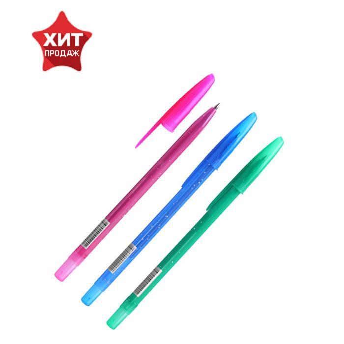"""Ручка шариковая Стамм """"Конфетти"""", узел 0.7 мм, чернила синие на масляной основе, стержень 135 мм, микс"""
