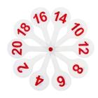 """Касса """"Веер"""", цифры от 1 до 20"""
