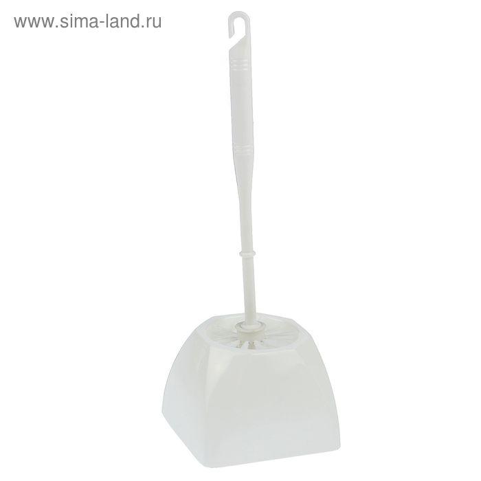 Ершик для унитаза с подставкой, 37 см, цвета МИКС