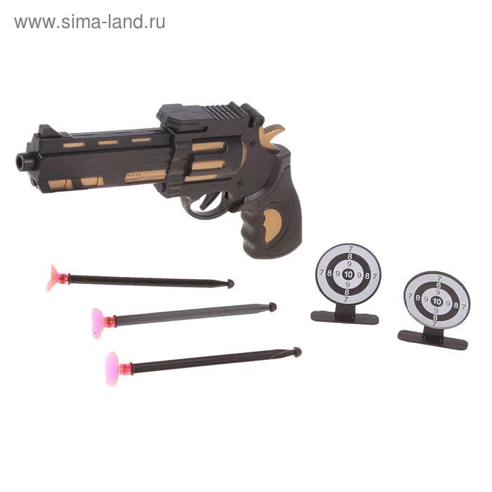 """Пистолет """"Стрелок"""", с присосками + мишени"""