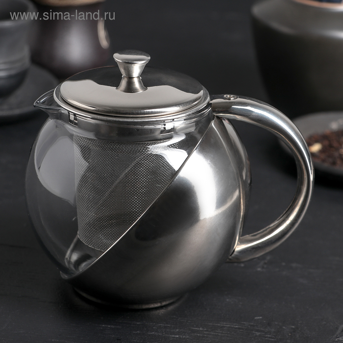 "Чайник заварочный 500 мл ""Металлик"""