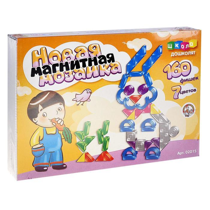 Мозаика магнитная фигурная, 160 элементов, 7 цветов