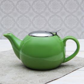 """Чайник заварочный 600 мл """"Солнце"""", с ситом, цвет зеленый"""