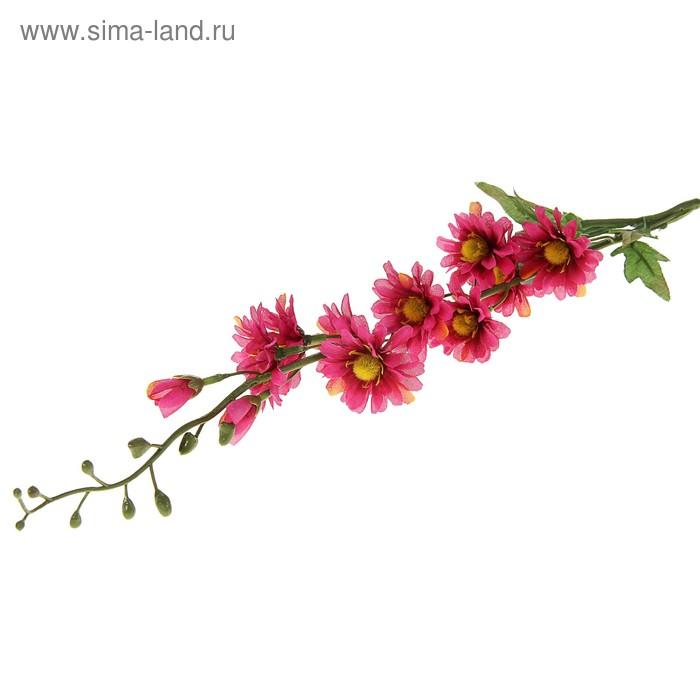 """Цветы искусственные """"Веточка малиновых ромашек"""""""