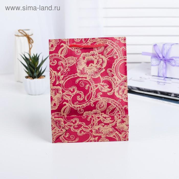 "Пакет крафт ""Золотые розы"""