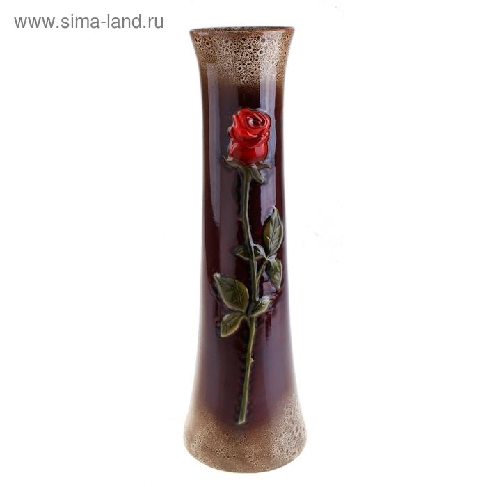 """Ваза напольная """"Роза"""" мрамор, коричнево-чёрная"""