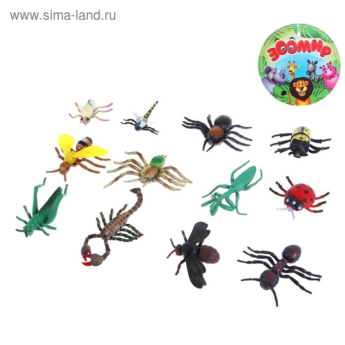 Набор насекомых, 12 штук