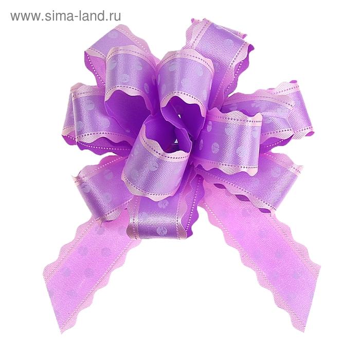 """Бант-шар №3 """"Горох"""", цвет фиолетовый"""