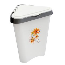 Контейнер для мусора 7 л, угловой, цвета МИКС