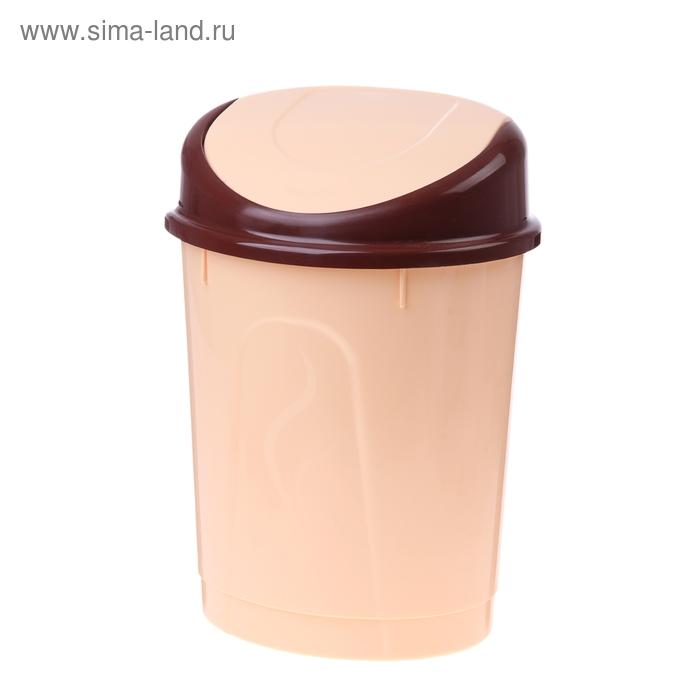Контейнер для мусора 8 л, овальный, цвет МИКС