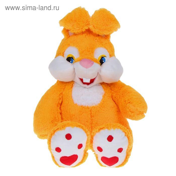 Мягкая игрушка «Зайка-зазнайка», цвет жёлтый