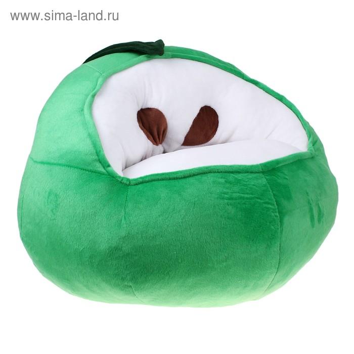 Мягкая игрушка-кресло «Яблоко», цвет зелёный