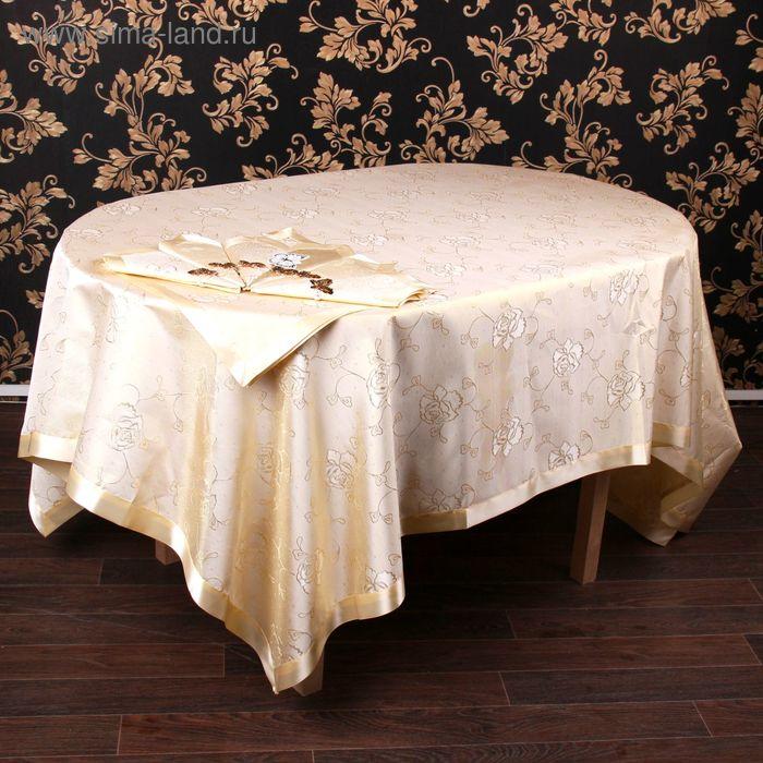 """Столовый комплект """"Этель"""" Ампир золото, размер 150х220 см, 37х37 см - 8 шт., 100% полиэстр"""