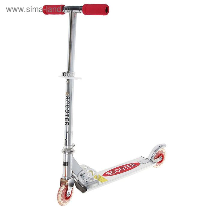 Самокат алюминиевый OT-D1, два колеса PVC, d=100 мм, цвет красный, до 50 кг