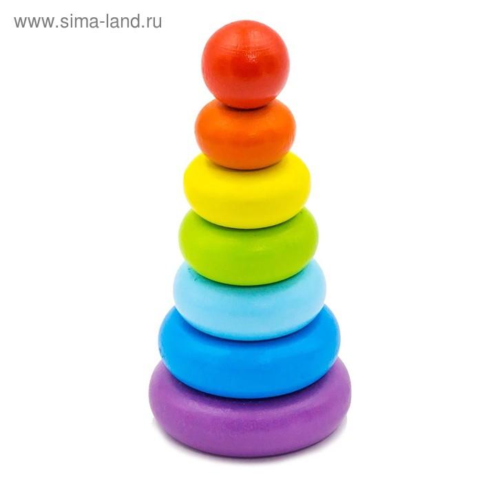 """Пирамидка """"Колечки"""", 7 элементов"""
