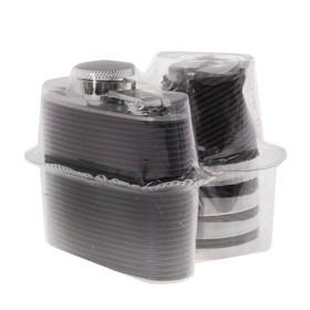 Подарочный набор 5 в 1 'Классика' в упаковке ПВХ: фляжка 60 мл + 4 рюмки Ош