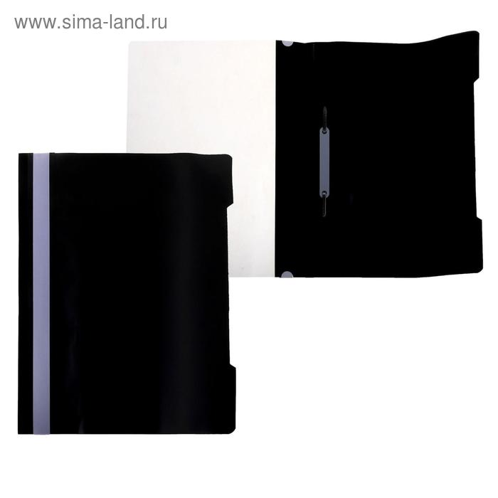 Папка-скоросшиватель А4, черная