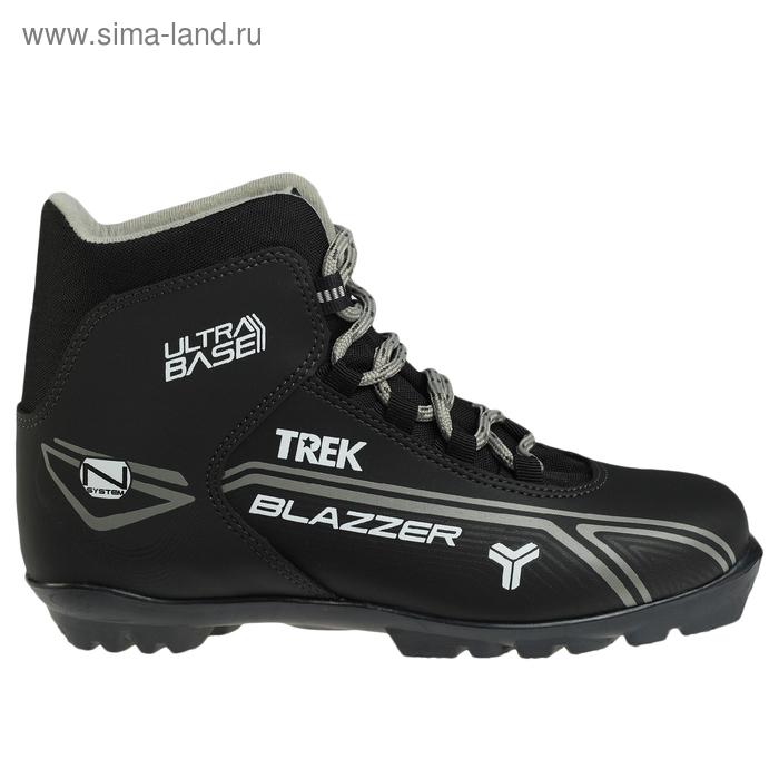 Ботинки лыжные TREK Blazzer NNN ИК, размер 45, цвет: черный