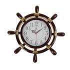 """Часы настенные """"Штурвал"""", d=30 см, тёмно-коричневые"""